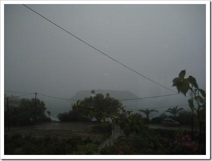 mochlos - rain